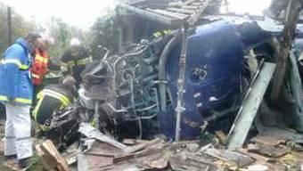 Der abgestürzte Helikopter
