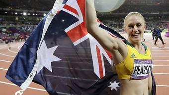 Sally Pearson feiert den Olympia-Sieg über 100 m Hürden