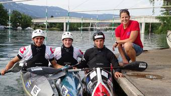 Die Solothurner Teilnehmer an der Weltmeisterschaft: Leano Meier, Basil Jenni, Robin Häfeli, Kristin Amstutz (v.l.n.r.)