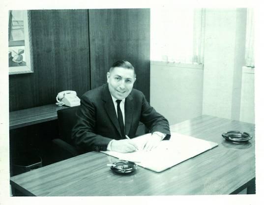 Firmengründer Hans Schaffner, hier noch in den USA 1960