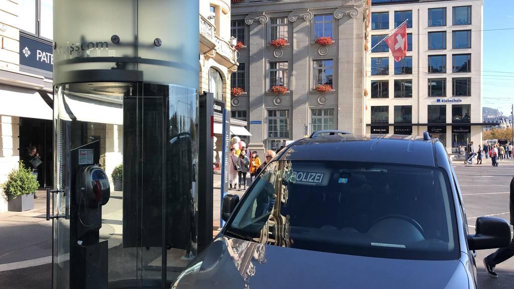 Raubüberfall am Schwanenplatz in Luzern