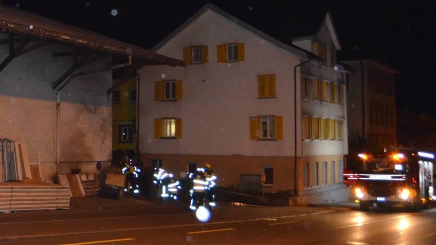 Die Feuerwehr Herisau konnte den Brand rasch löschen.