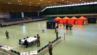 Als Übung für den Zivilschutz wurde die Stadthalle in Olten bereits im November 2018 zum Pandemie-Impfzentrum.