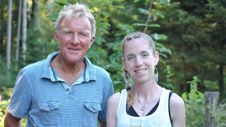 Martina Strähl mit ihrem Coach Fritz Häni.