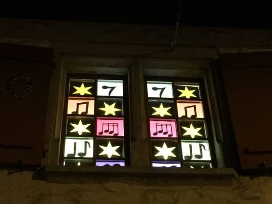 Adventsfenster der Kreismusikschule Seengen