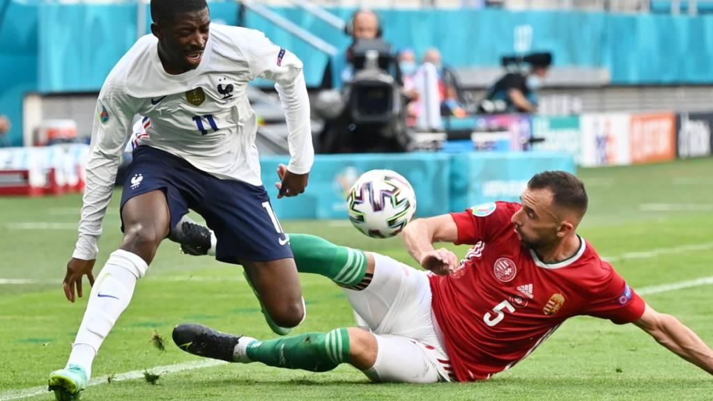 Ousmane Dembélé verletzt sich im Spiel gegen Ungarn