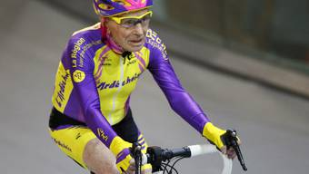 Der 105-jährige Robert Marchand am Mittwoch auf seiner Rekordfahrt.