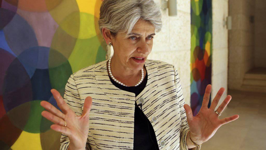 UNESCO-Chefin Irina Bokova berichtet auf Grund von Satellitenbildern, dass der IS archäologische Stätten in Syrien in «industriellem Ausmass» geplündert habe. (Archivbild)