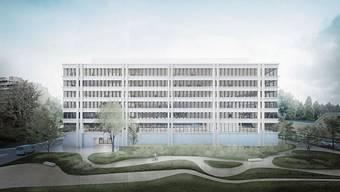 In der Aarauer Telli entsteht ab 2022 das neue Polizeigebäude.