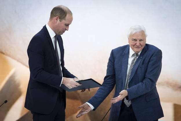 Prinz William interviewt David Attenborough.