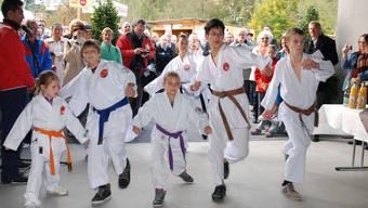 An der Eröffnung der Laufenburger Herbstmesse zeigen die Laufenburger Karatekas ihr Können.sh