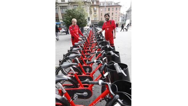 Die Stadt Biel verfügt bereits über eine Velo-Flotte. Nun will Basel nachziehen. Foto: Ho