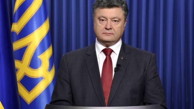 Präsident Poroschenko ruft zum Gang zu den Urnen auf