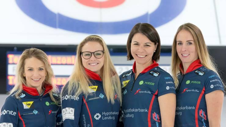 Silvana Tirinzoni, Alina Pätz, Esther Neuenschwander und Melanie Barbezat