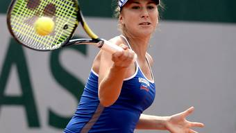 Belinda Bencic in voller Aktion
