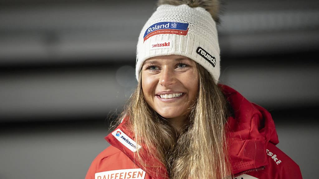 Corinne Suter war im ersten Abfahrtstraining in Val d'Isère bestklassierte Schweizerin