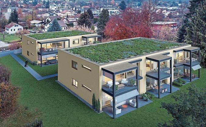 So werden die Wohnbauten nach dem Sommer aussehen.
