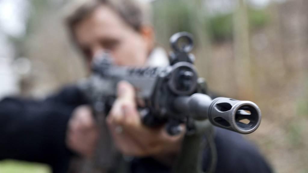 Die Rekruten bekommen heute ihr persönliches Sturmgewehr.