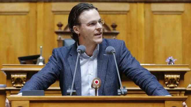 Bastien Girod, grüner Nationalrat, wirbt für die «Grüne Wirtschaft». Foto: Keystone