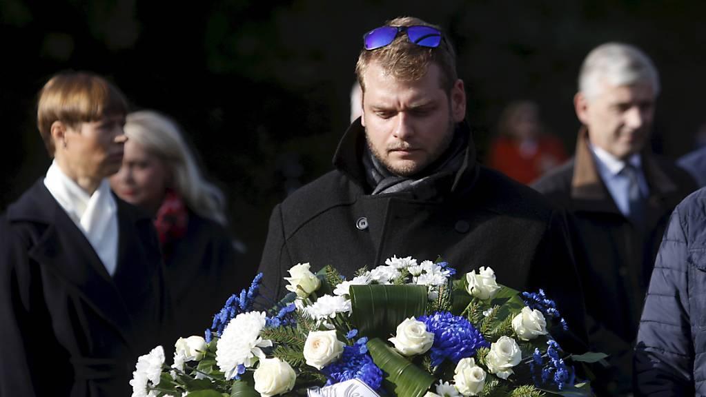 """Gedenken an die Opfer der """"Estonia"""" in der estnischen Hauptstadt Tallinn."""