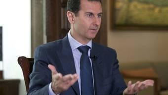 """Syriens Präsident Baschar al-Assad: """"Wir haben keine Chemiewaffen. 2013 haben wir auf unser gesamtes Arsenal verzichtet.""""  (Archivbild)"""