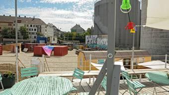 Blick von der Dachterrasse von «Shift Mode» auf die Wohngenossenschaft Klybeck.