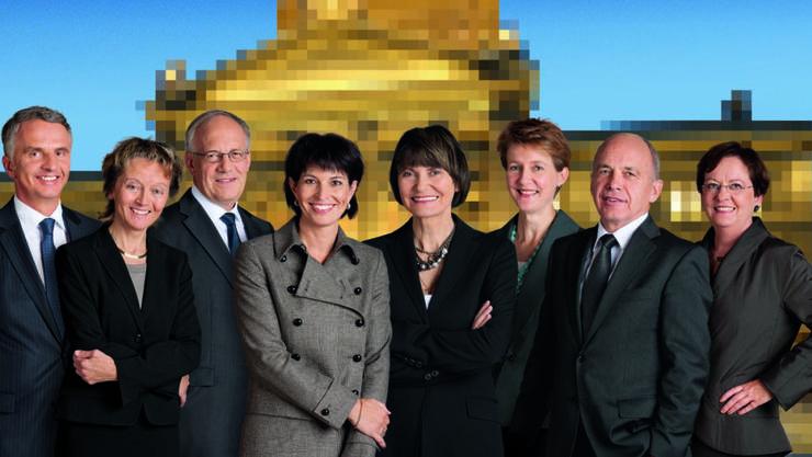 Die Frauendominanz im Bundesrat Anfang 2010 mit vier Frauen dauerte nur kurz.
