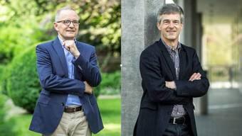Die Kandidaten Hilfiker und Siegenthaler