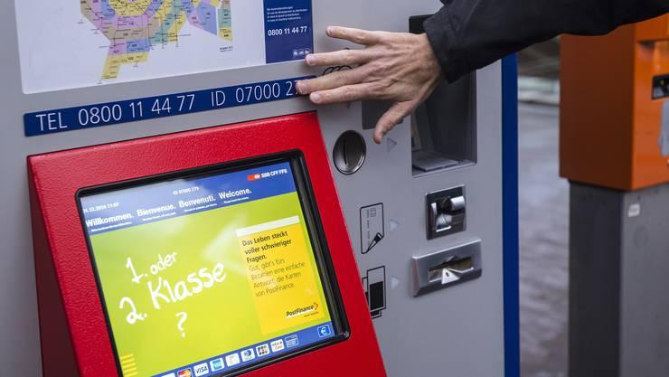 An den SBB-Ticketautomaten konnte temporär nur bar bezahlt werden. (Archivbild)