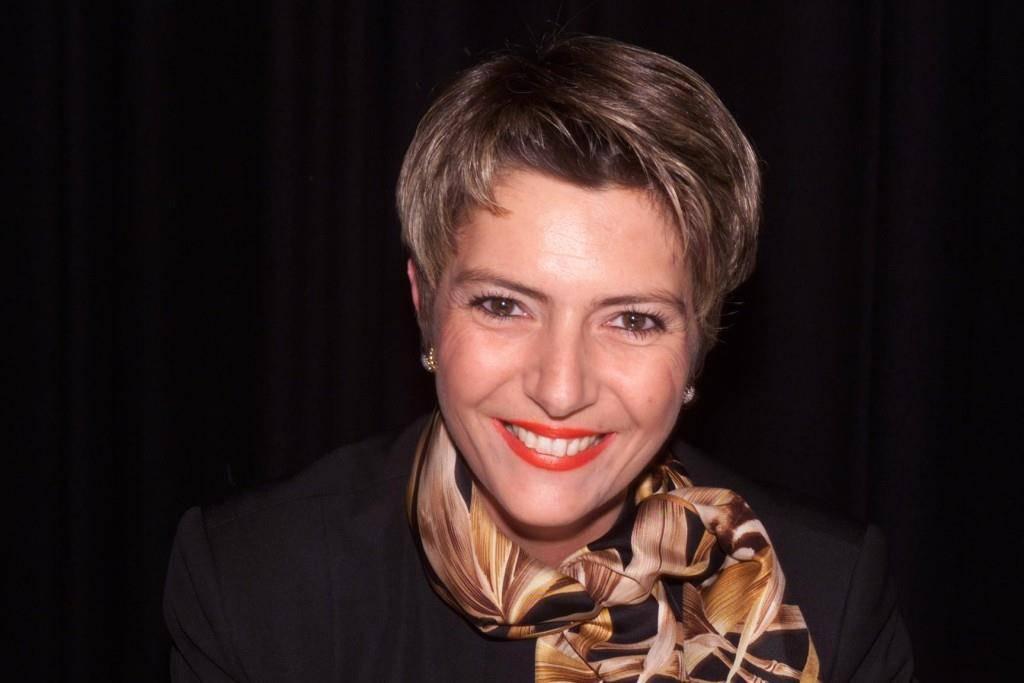 Karin Keller-Sutter bei den Regierungsratswahlen im März 2000. (© Tagblatt)