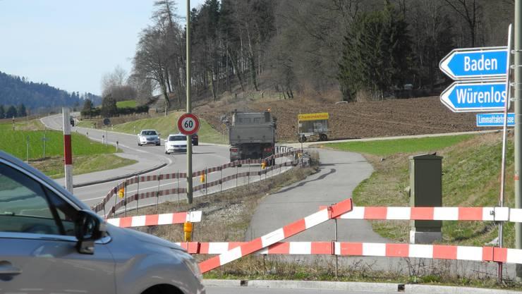 Rechtsstreit um den Radweg Oetwil-Würenlos: Das Schweizerische Bundesgericht hat dem Kanton Zürich Recht gegeben.