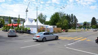 Entsteht auf dem Stadtplatz in Schlieren bald ein neuer Sadtsaal? (Archiv)