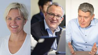 Stefanie Ingold (SP), Marco Lupi (FDP), Markus Schüpbach (FDP) wollen Stadtpräsidentin bzw. Stadtpräsident werden.