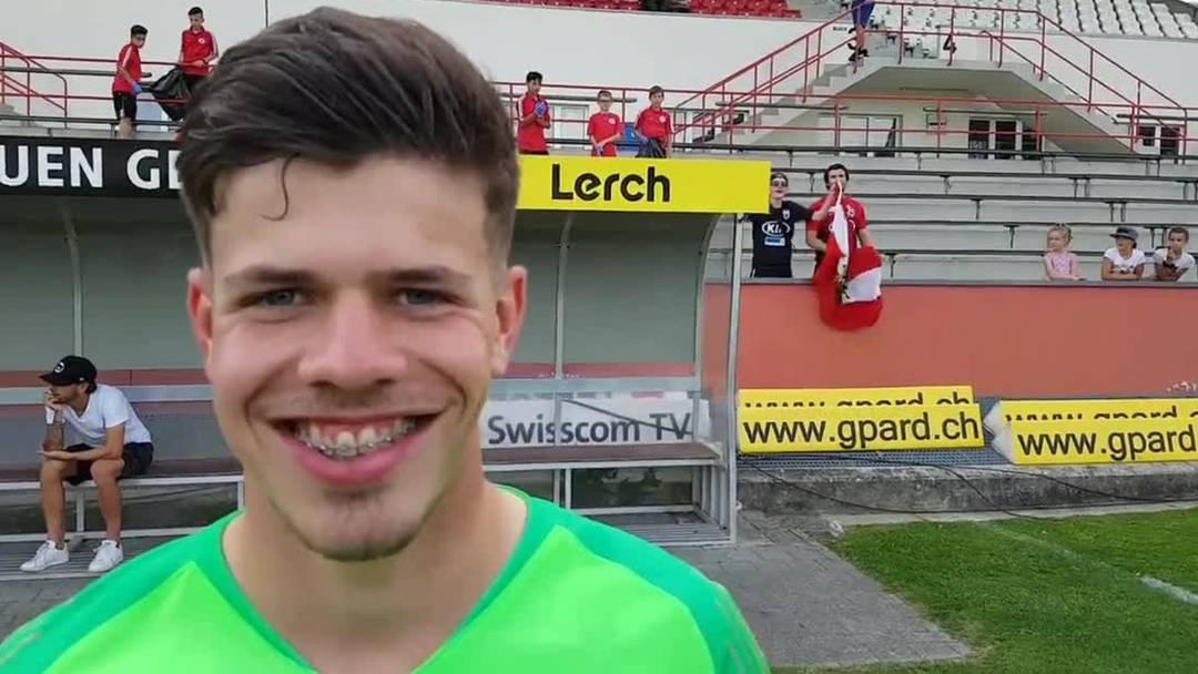 Nicholas Ammeter im Interview nach dem Spiel FC Winterthur - FC Aarau