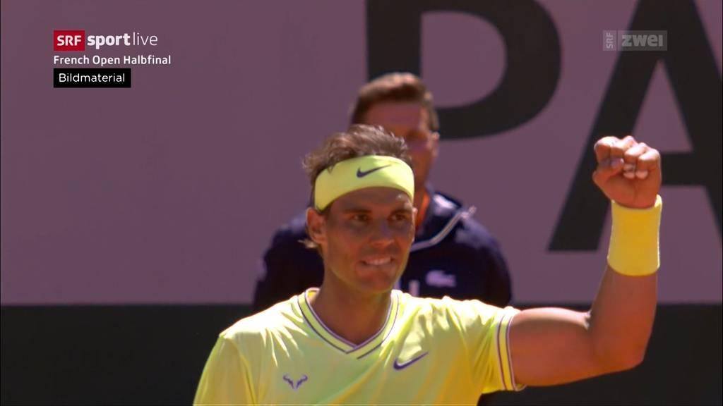 Federer chancenlos gegen Nadal