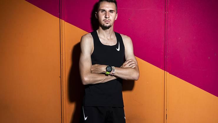 Startet am Sonntag beim Halbmarathon in Valencia und wird erstmals von seinem neuen Trainer begleitet: der 24-jährige Genfer Julien Wanders