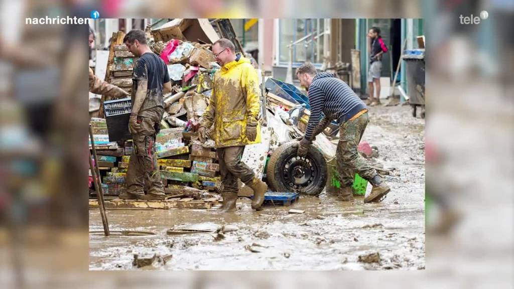 Traumatisches Aufräumen nach Hochwasser in Deutschland