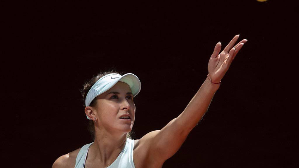 Belinda Bencic schlug die Weltranglisten-Erste Naomi Osaka zum zweiten Mal in Folge