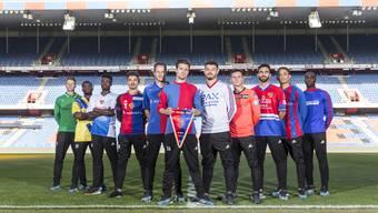 In Retro-Trikots: Der FC Basel feiert seinen Geburtstag.