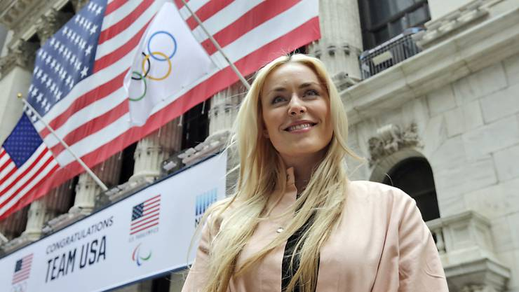 Lindsey Vonn im März 2018 in New York