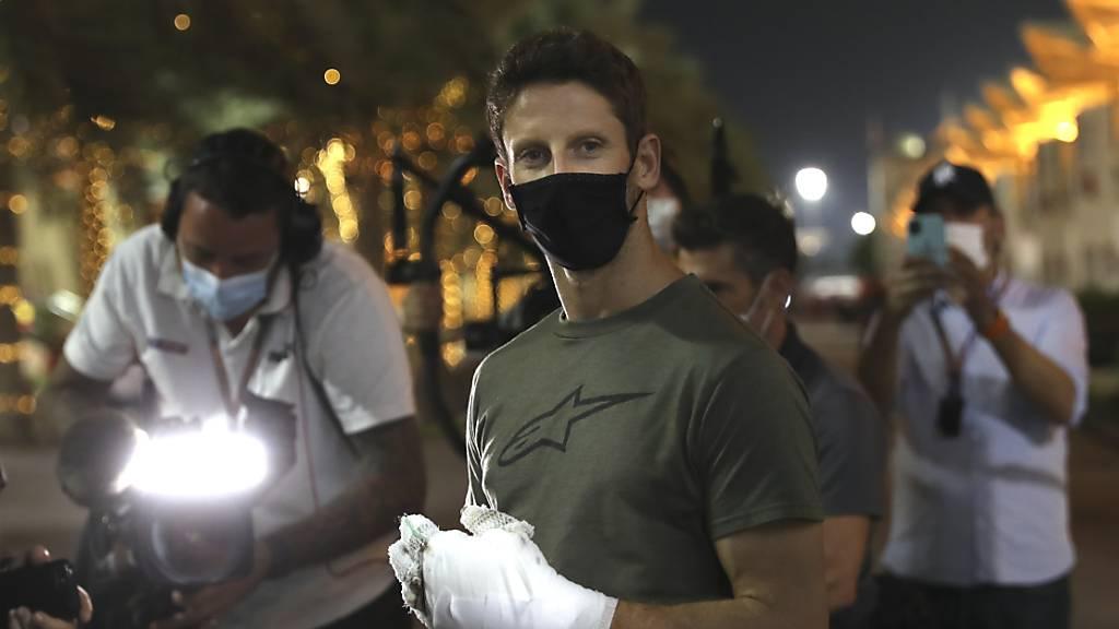 Romain Grosjean muss nach seinem Unfall in Bahrain auch auf das Saisonfinale in Abu Dhabi verzichten