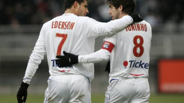 Lyon-Torschützen unter sich: Ederson und Juninho