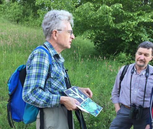 Christoph Hörler und Heinz Hess führten durch die Abendexkursion