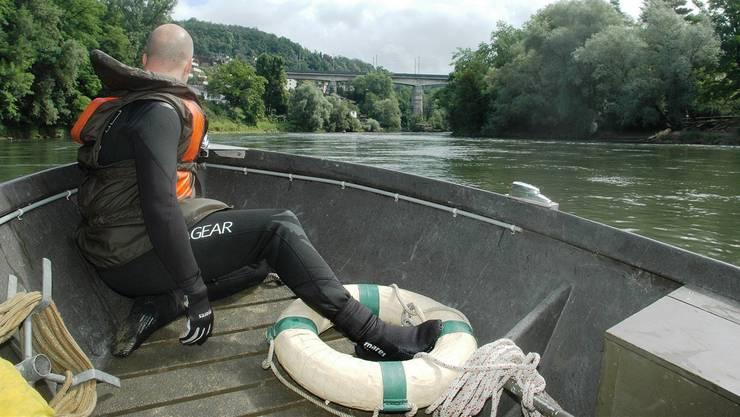 Mit diesem Boot machte sich die Repol Brugg auf die Suche nach dem Mädchen. Das Bild zeigt eine Übung.
