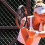 Die TC-Weihermatt-Spielerin Jenny Dürst in Aktion gegen Chiasso am Samstag.