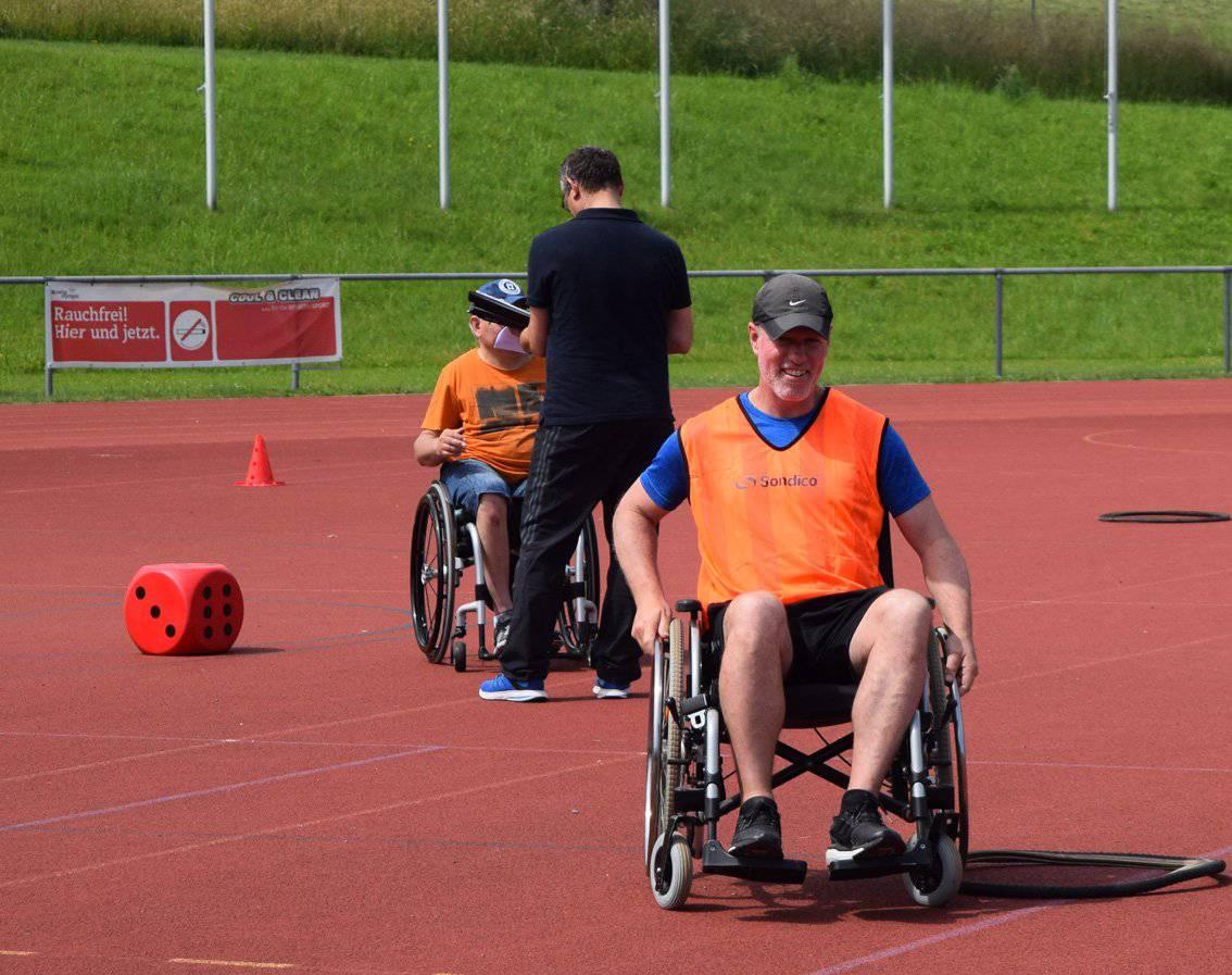 Der Rollstuhl-Parcour ist Bestandteil der Wettkämpfe. (Bild: PD)