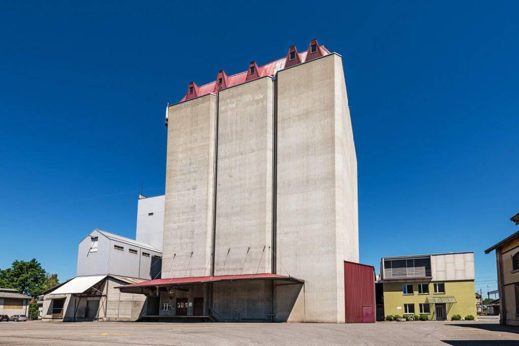 Der Silo der Firma Lütolf AG ist in St.Margrethen schon fast ein Wahrzeichen. (Bild: pd)