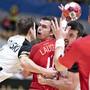 Die Schweizer Handballer zeigten gegen Olympiasieger und Weltmeister Dänemark eine gute Moral