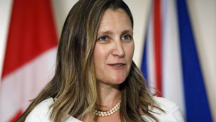 Will Russland vorerst nicht im Kreis der bedeutenden Industrienationen G7: Kanadas Aussenministerin Chrystia Freeland. (Archivbild)