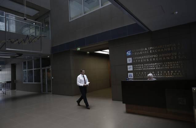 Die griechische Börse blieb am Montag geschlossen
